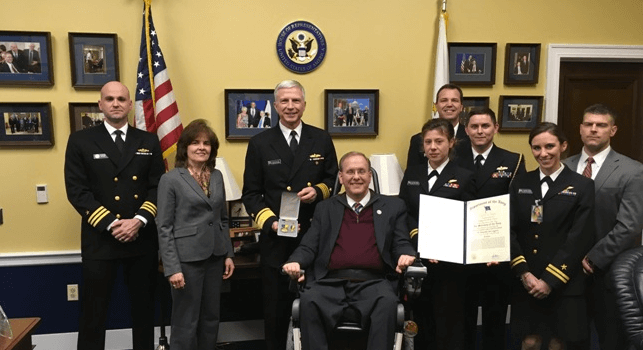 LPR: Langevin Honored with Distinguished Public Service Award Recognition Comes from Secretary of the Navy Ray Mabus