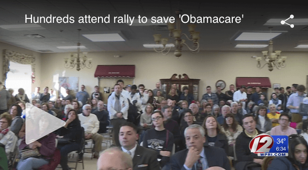 WPRI: Hundreds attend rally in Rhode Island to save Obamacare