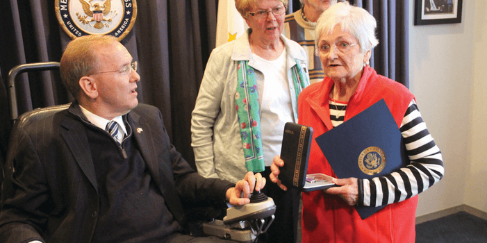 Cranston Herald: Langevin presents Purple Heart to widow of World War II veteran