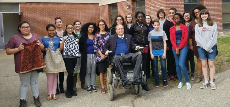 Cranston Herald: Langevin visits after-school program at Bain