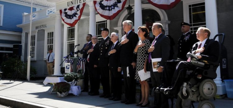 ProJo: Hundreds pay tribute as Bristol post office is renamed in memory of fallen soldier
